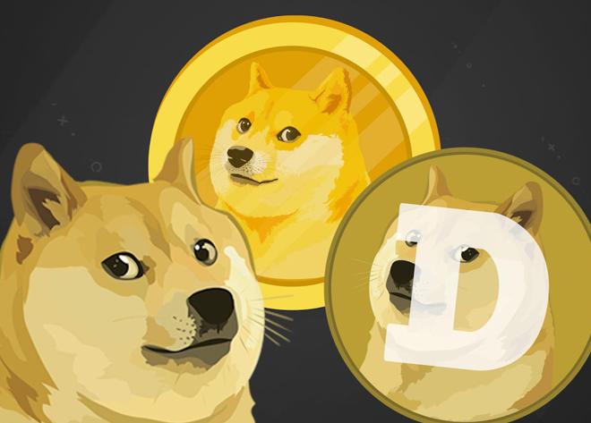 Dogecoin logo.